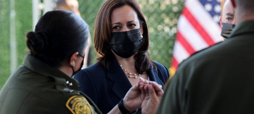 Kamala Harris, vicepresidenta de EE UU, visita la frontera nortemexicana.