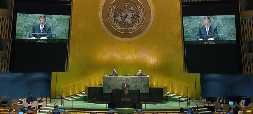 COVID-19, crisis migratoria y cambio climático: temas de Ebrard en Asamblea de laONU